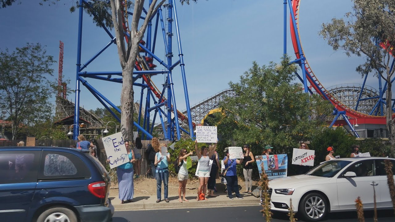 Empty the Tanks Protest at Six Flags Vallejo – 5/24/14