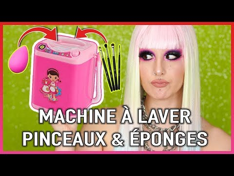 MACHINE À LAVER POUR ÉPONGES & PINCEAUX MAQUILLAGE 🤔 | Crash Test Mini Makeup Washing Machine