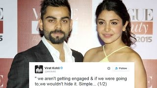 Virat Kohli Tweets denies reports of engagement with Anushka Sharma