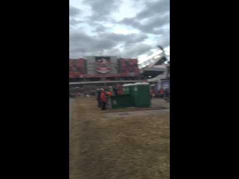 Broncos fans tipped over Porta-Potty with Patriots fan inside