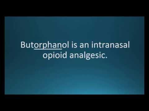 How to pronounce butorphanol (Stadol) (Memorizing Pharmacology Video Flashcard)
