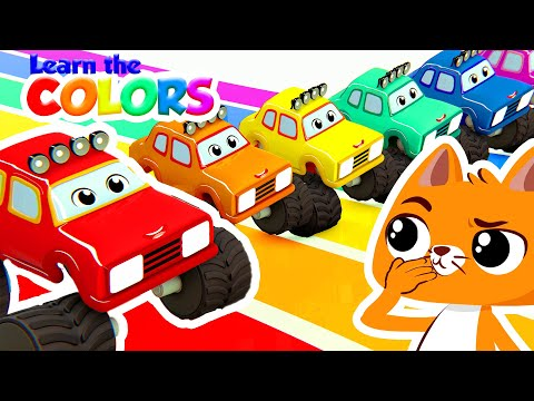 NEW! 🚛 Superzoo in 3D!   Learn the colors with the magic monster trucks