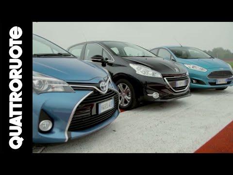 Toyota yaris peugeot 208 снимок