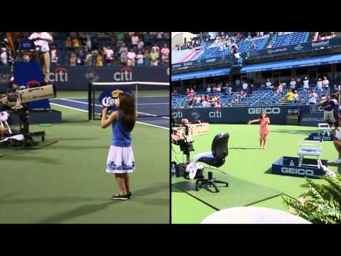 Kaitlyn Maher - 8yo - National Anthem At Citi Classic Tennis Tournament - Aug 3 & 5, 2012