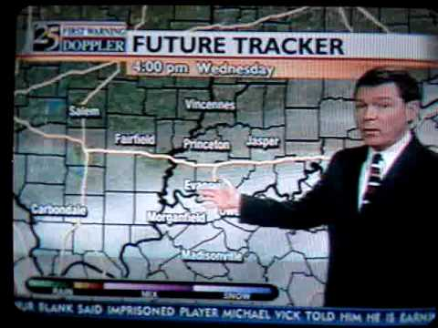 weatherman Wayne Hart *slipping up*