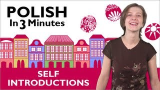 Learn to Speak Polish Lesson 1 - How to Introduce Yourself in Polish