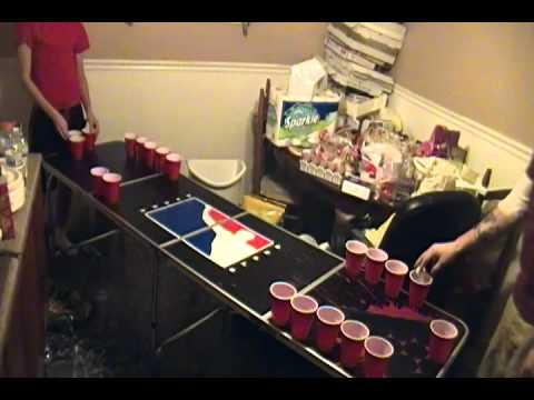 Beer Pong Match (Andy's Epic Comeback!)
