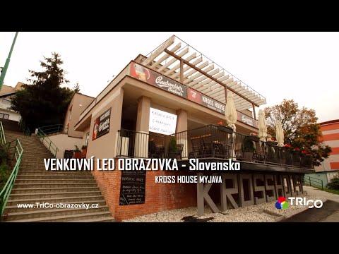 VENKOVNÍ LED OBRAZOVKA - Slovensko - KROSS HOUSE MYJAVA