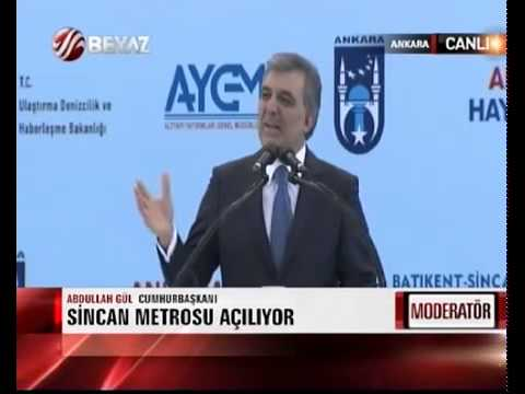 Cumhurbakan Abdullah Gl Sincan Metrosu Alnda Konutu