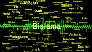 Bislama  Language Voice Over