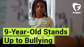 9-year-old Nasir Andrews has been hit, called racist names, and treated like trash by her classmates. But she took a stand against bullying with a viral video and is trying to make a change:Subscribe to Fusion: http://fus.in/subscribeVisit us at: http://www.fusion.netLike us at: https://www.facebook.com/fusionmedianetworkFollow us at: https://twitter.com/fusionView us: http://instagram.com/ThisIsFusionWatch more from Fusion friends:F-Comedy: https://goo.gl/Q27Mf7Fusion TV: https://goo.gl/1IbZ1BGizmodo: https://goo.gl/YTRLAEKotaku: https://goo.gl/OcnXv7Deadspin:  https://goo.gl/An7N8gJezebel:  https://goo.gl/XNsnCJLifehacker:  https://goo.gl/3rNmzwIo9:  https://goo.gl/ismnzPJalopnik:  https://goo.gl/u7sDEkSploid:  https://goo.gl/4yq2UYThe Root:  https://goo.gl/QMOjBE