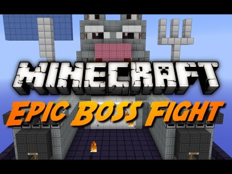 Minecraft Mini-Game: EPIC EASTER BUNNY BOSS FIGHT!