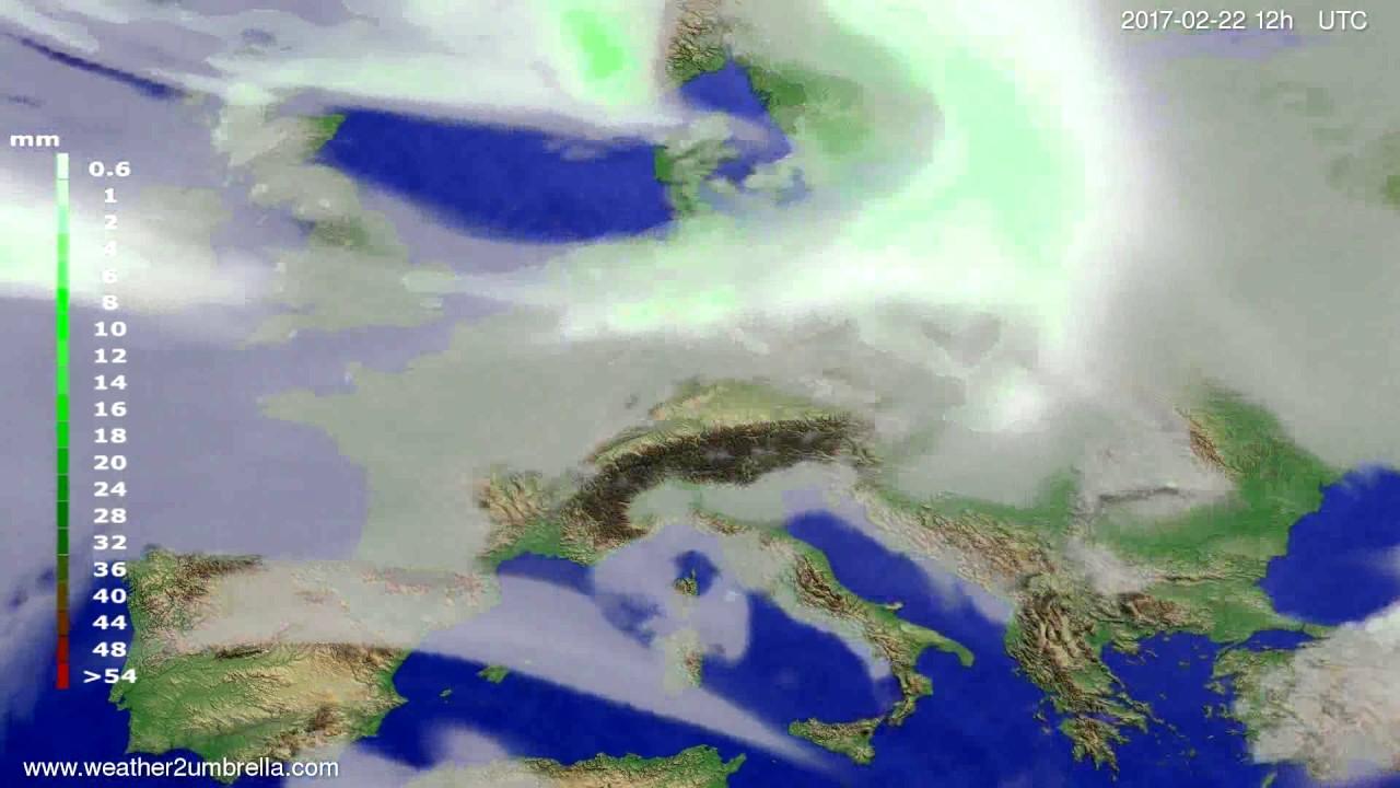Precipitation forecast Europe 2017-02-20