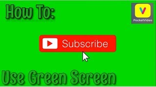 How To Use Green Screen Simple Steps { Pocket Video }