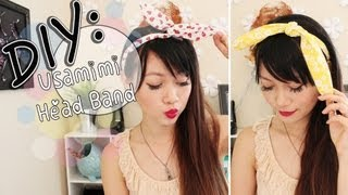 ◕‿◕ DIY: Usamimi {Rabbit Ear} Head Band - YouTube