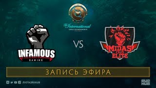 Infamous vs MidasClub, The International 2017 Qualifiers, map 1 [Jam, Tekcac]