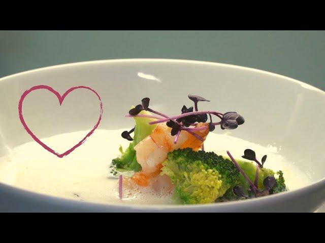 Zitronensuppe mit Broccoli und Garnelen   Der perfekte Gang zum Valentinstag