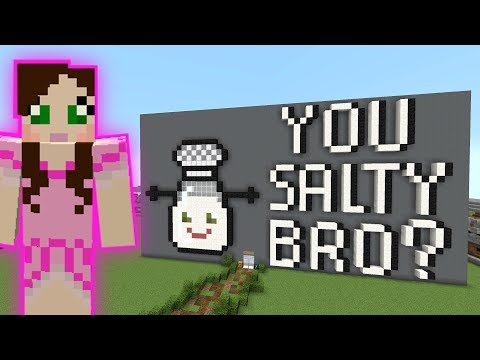 Minecraft: YOU SALTY BRO PARKOUR! - HEAD HUNTER THEME PARK [8]
