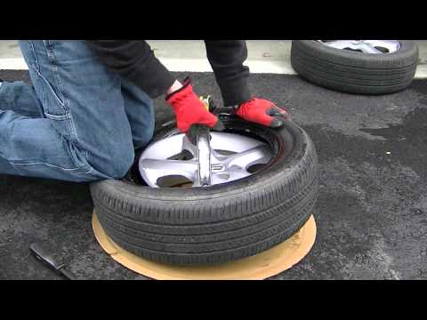 rim tyre - In this video I show you how to mount a 16 inch tire onto a rim with nothing but hand tools. http://directorzone.cyberlink.com/video/820561.