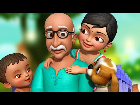 தாத்தா தாத்தா தை | Tamil Rhymes for Children | Grandpa Song | Infobells