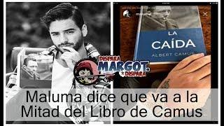 Maluma dijo en unta entrevista que sí está leyendo al escritor francés Albert Camus y que recibió el libro como un regalo.