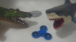 There's something spinning under the bathtub - It's a Fidget Spinner! And Skyheart's swimming pet creatures are trying to fight and take it from each other - Who will win? We have the turtle, orca whale, crocodile, great white shark, fluffy the shark and giant sharks! There are also other sea creatures under our bathtub, I wonder what else are they doing inside?[CLICK HERE] Subscribe to our channel for more fun and toyshttp://youtube.com/c/SkyheartsToysChannel?sub_confirmation=1