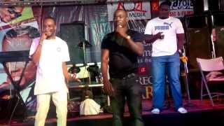 9ice&Pasuma Performing Together At Pasuma's 20 Years Anniversary On Stage