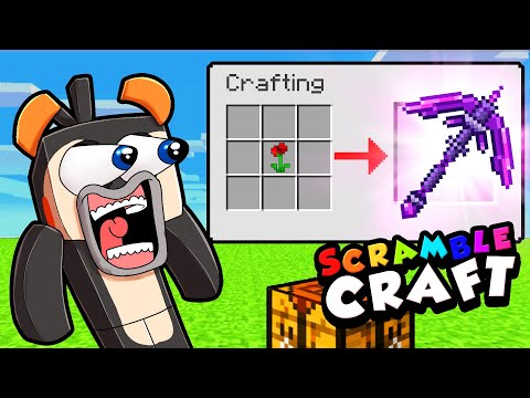 Secret Way to Craft OVERPOWERED PICKAXES! (Scramble Craft #7)