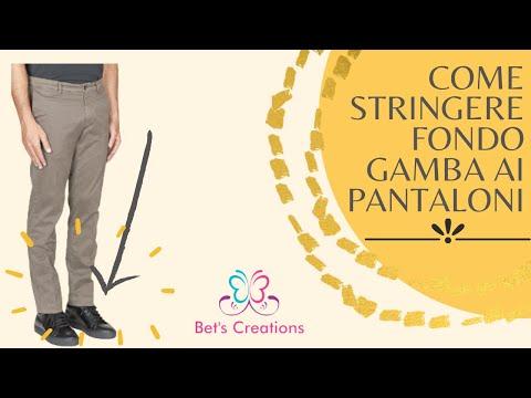 Come stringere pantaloni,gamba al fondo, How to tighten pants leg to the bottom
