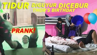 Video PRANK BIRTHDAY THOR TIDUR DIGUYUR DICEBUR KOLAM RENANG MP3, 3GP, MP4, WEBM, AVI, FLV April 2019