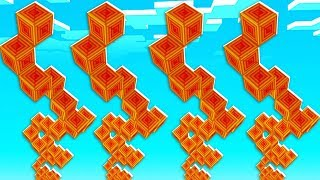 Magma Lucky Block Spiral Staircase Race - Minecraft Modded Minigame | JeromeASF