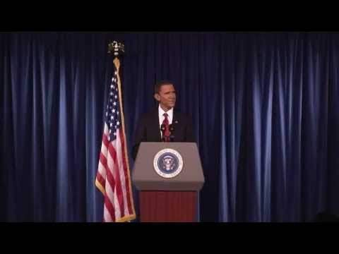 Steve Bridges as President Obama - January 2010 - Pt 1