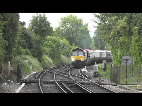 (HD) Colas Rail 66848 Powers Through Otford Hauling 8 New Pendolino Coaches - 6X39