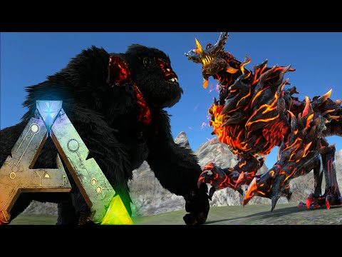 Ark Survival Evolved - DRAGON GOD VS ARK WARDENS, TITANS (Ark Gameplay)