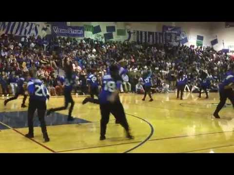 Footworks at #AllBlueRally - Valley High School 2016