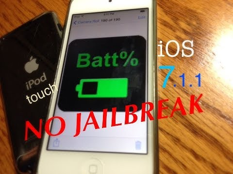 how to on battery percentage in ios 7