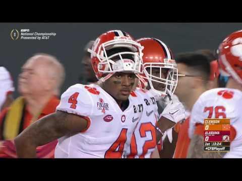 2016 CFP National Championship - #2 Clemson vs. #1 Alabama (HD) (видео)