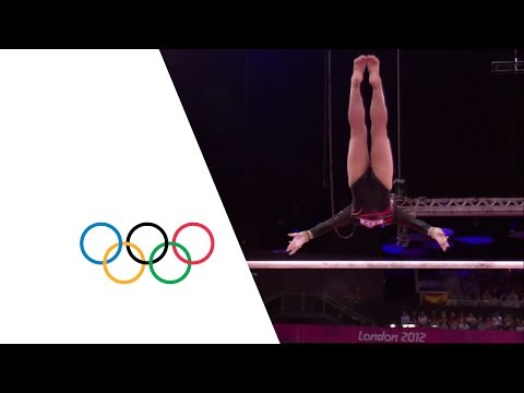 gymnastics - Full highlights from the Women's Uneven Bars Final from the North Greenwich Arena at the London 2012 Olympic Games. Russia's Aliya Mustafina won Gold with Ch...