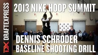 Dennis Schroder - Baseline Shooting Drill - 2013 Nike Hoop Summit
