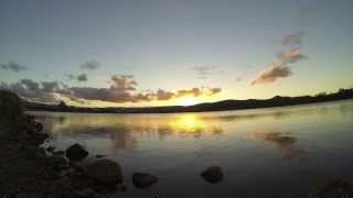 Sunset Over Lake Time-Lapse - Gold Coast, Queensland 8th Feb 2014