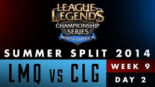 LCS NA Summer Split 2014 - Week 9 Day 2 - LMQ vs CLG