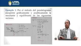 UTPL OPERACIONES CON VECTORES [(CCEE - FÍSICO MATEMÁTICAS)(FÍSICA I)]