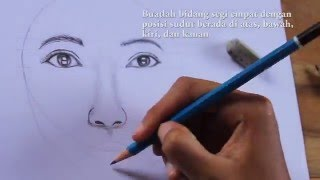 Download Video Tutorial Menggambar Wajah Perempuan/How to draw female face step by step MP3 3GP MP4