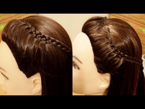 Curly hairstyles - How to make Easy Side Braid Hairstyle  Hairstyle for Medium Hair  Medium Hairstyle for Medium Hair