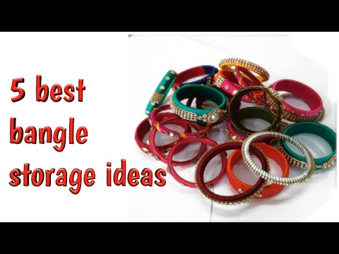 Diy /5 Bangle Organizing Ideas With Waste Material At Home/how To Organize Bangles In 5  Easy Ways
