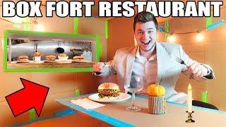 BOX FORT RESTAURANT CHALLENGE!! 📦🍔 Box Kitchen, Food & More!