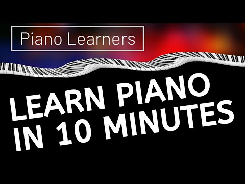 Keyboard - http://PianoLearners.com/best-piano-courses/ How to learn to play the piano in under 10 minutes. This guide shows the beginner how to find the notes on the p...