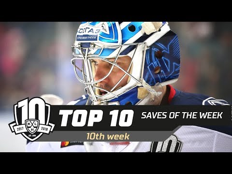 17/18 KHL Top 10 Saves for Week 10 (видео)