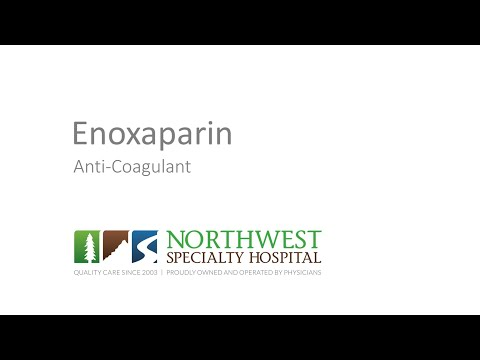 Enoxaparin Education