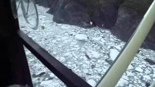 TRS banner to Knik glacier